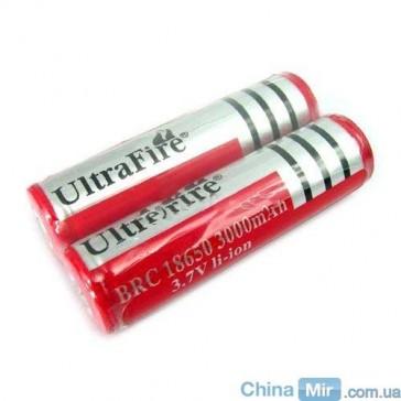 2 аккумулятора UltraFire 18650 3000 mAh 3.7V