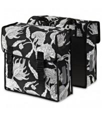 Сумка-штаны на/баг Basil BLOSSOM 35 л., цветочный принт, черн