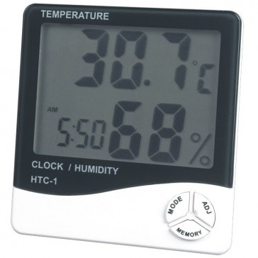 Цифровой термометр, гигрометр, часы