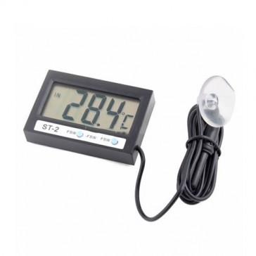 Цифровой термометр с внутренним и выносным датчиком + часы