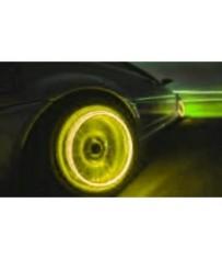 Светящиеся LED колпачки на колеса велосипеда желтого цвета