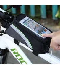 """Сумка-бардачок 4.8"""" для велосипеда с отсеком для телефона, с отверстием для аудио кабеля"""