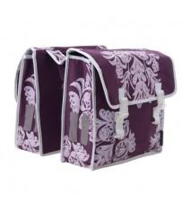 Сумка-штаны на/баг Basil BLOSSOM 35л. фиолетовая с цветочным принтом