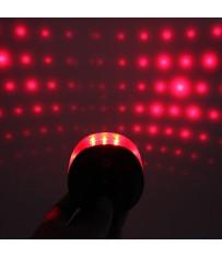 Велосипедный задний фонарь с лазерами в виде точек-звездочек