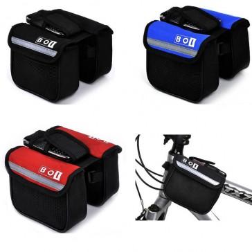 Двухсторонняя сумка-бардачок для велосипеда с карманом для телефона