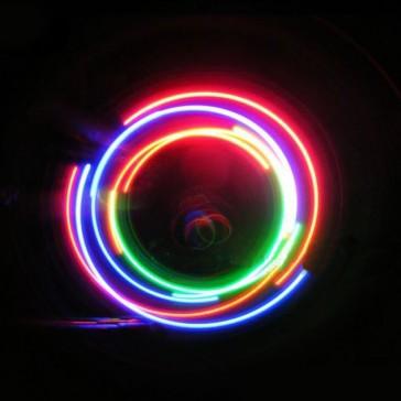 2 светящиеся 5-светодиодных колпачка на колёса велосипеда, мотоцикла, автомобиля
