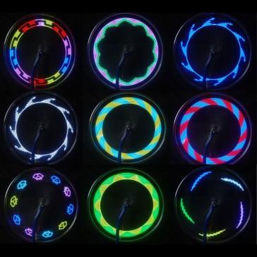Светящаяся 14-ти светодиодная подсветка на колёса велосипеда, мотоцикла.