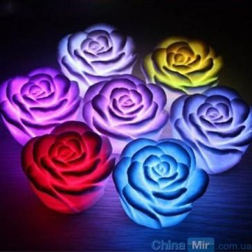 Ночник Роза, светодиодный светильник