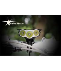Велосипедная сверхяркая фара SolarStorm 6000 Lm 3ХCREE XM-L U2 светодиодная
