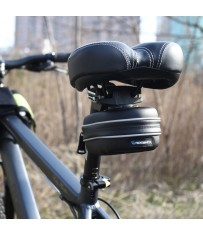 Стильный пластиковый бардачок для велосипеда.