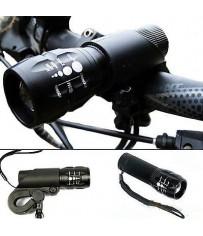 Велосипедная фара-фонарь с креплением.