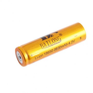 Аккумулятор 18650-6800mAh, золотой, красный