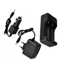 Зарядное устройство на 2 аккумулятора 18650 от 220V или 12V