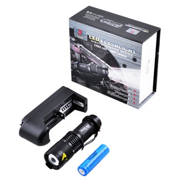 Фонарь Police 8468/8455- XPE zoom, аккумулятор 14500, 3.7 V