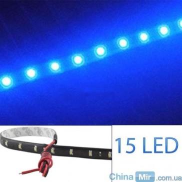 Светодиодная лента синего цвета, 15 LED