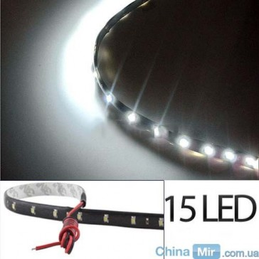 Светодиодная лента белого цвета, 15 LED