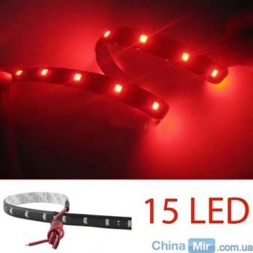 Светодиодная лента красного цвета, 15 LED