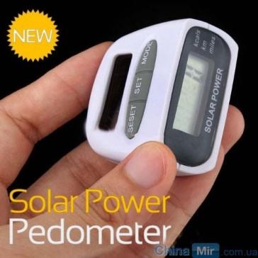 Шагомер на солнечных батареях (счетчик калорий)